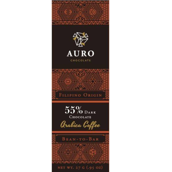 Auro Arabica coffee dark 55% 27 gr - front 800x800