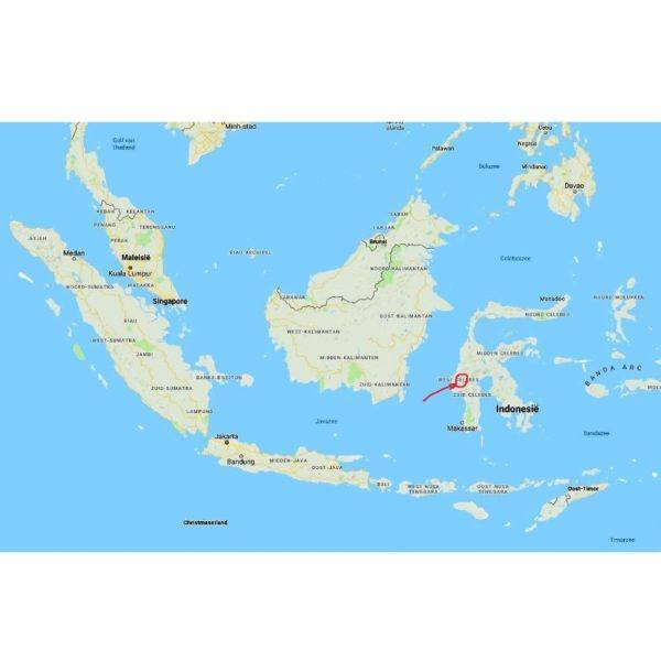 Krakakoa - saludengen - sulawesi - map 800x800