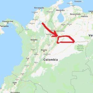 Tibito Arauca 80 - Colombia - map