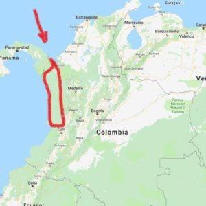 Tibito Chocó 70 - map