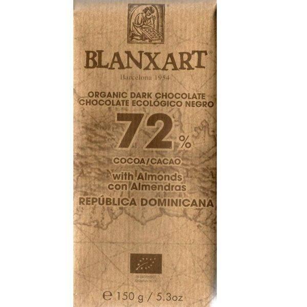 Blanxart Republica Dominicana 72 almonds - front 800x800