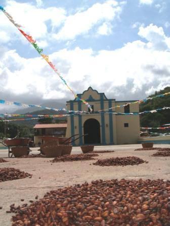 Chuao Church and beans