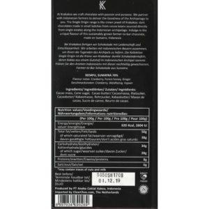 Krakakoa - sedayu - sumatra - back 800x800