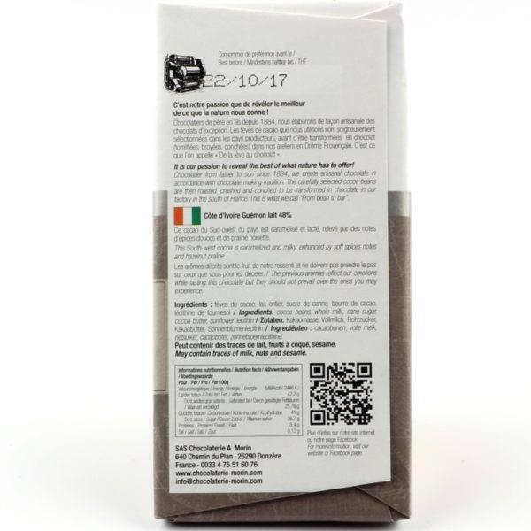 Morin - Ivory Coast Guemon milk 48 - back 800x800