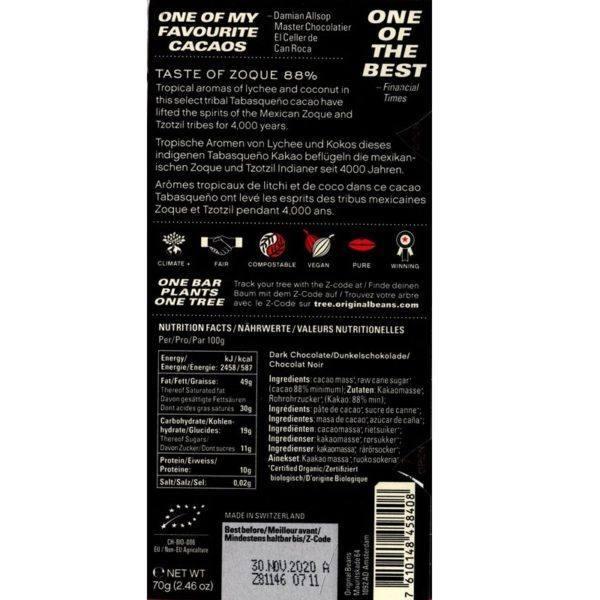 Original Beans - Zoque 88 - back 800x800