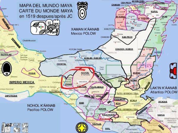 Zoque Mayas map circle