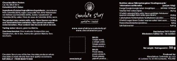 Chocolate Story - Colombia 85 - back 1100x381