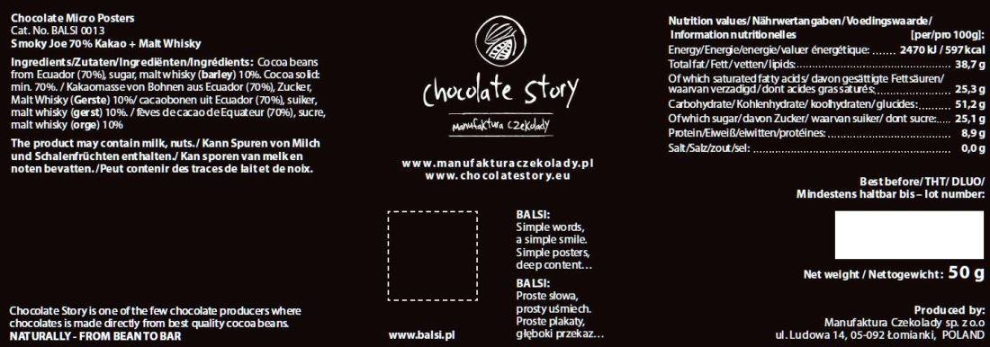 Chocolate Story - Smoky Joe 70 - back 1100x386