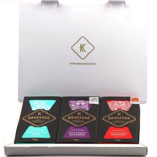 Krakakoa - 3 Single Origins Gift Box - open 850x850