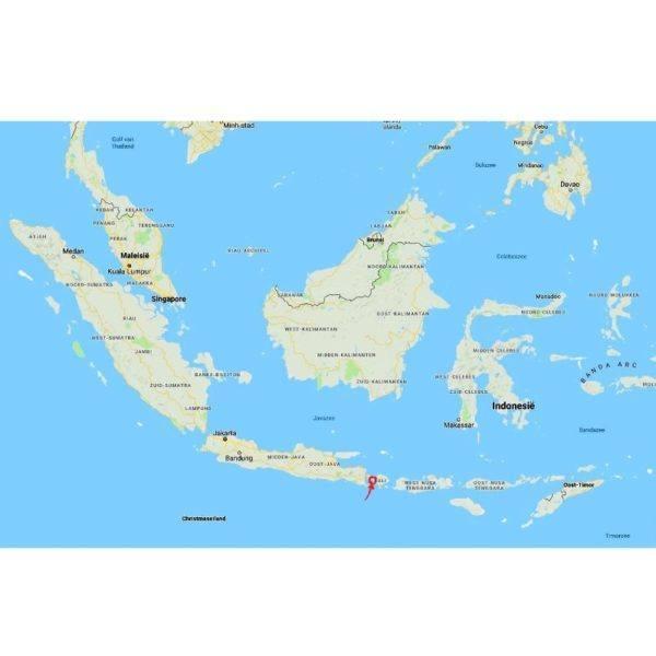 Krakakoa - pulukan - bali - map