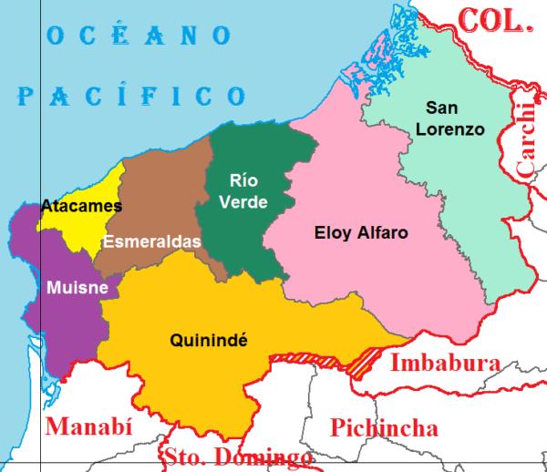 Kuná - cantones de Esmeraldas - Rio Verde