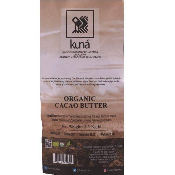 Kuna cacao butter 2,5 kg - label