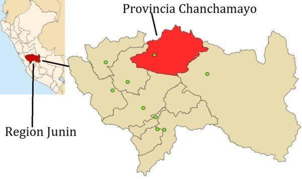 Morin Peru Provincia Chanchamayo - map WikiCommons