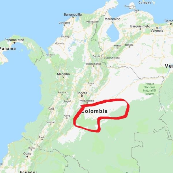 Tibito Meta 80 - Colombia - map