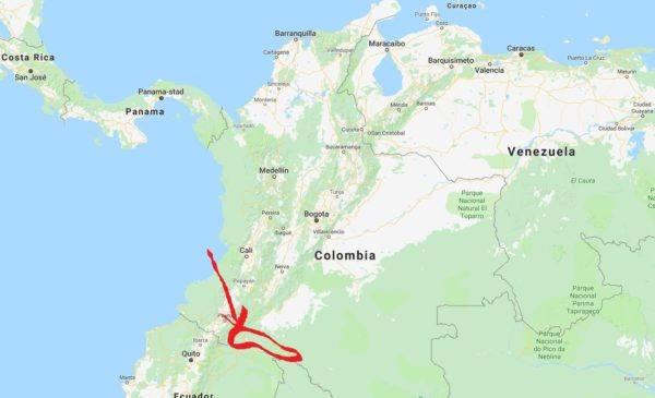 Tibito Putumayo - map