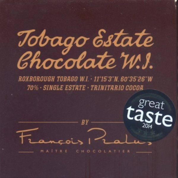 Tobago Estate Chocolate  50 gram voorkant 800x800