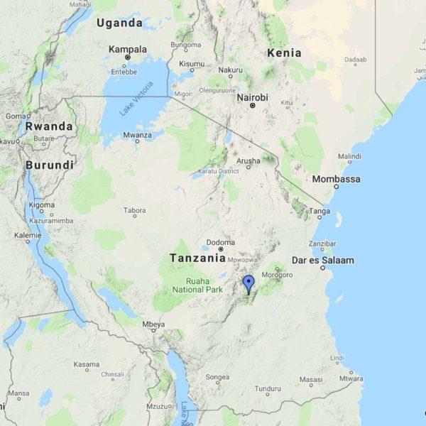 Udzungwa National Park - map