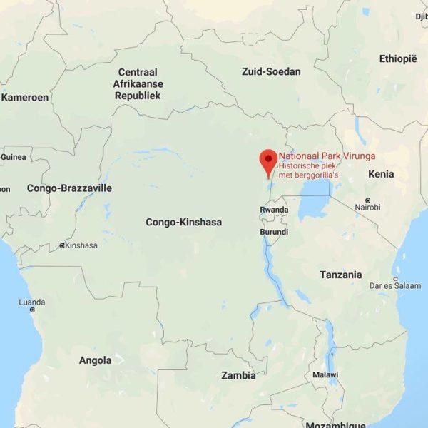 Virunga map